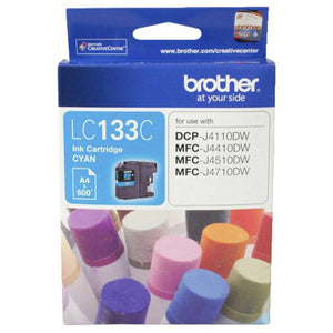 Brother LC-133 Cyan Ink Cartridge - up to 600 pages-Blueprint Toners