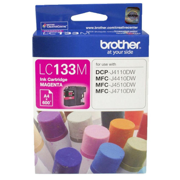 Brother LC-133 Magenta Ink Cartridge - up to 600 pages-Blueprint Toners