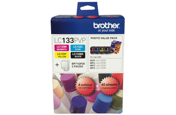 Brother LC-133 Photo Value Pack - up to 600 pages per colour-Blueprint Toners