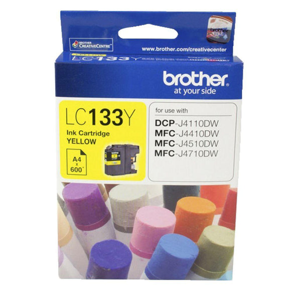 Brother LC-133 Yellow Ink Cartridge - up to 600 pages-Blueprint Toners