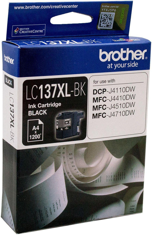 Brother LC-137XL Black Ink Cartridge - up to 1200 pages-Blueprint Toners
