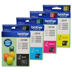 Brother LC-231 Yellow Ink Cartridge - Up to 260 pages-Blueprint Toners