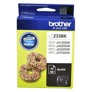 Brother LC-233 Black Ink Cartridge - up to 550 pages-Blueprint Toners