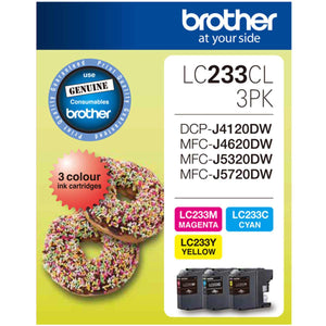 Brother LC-233 CMY Colour Pack - up to 550 pages each-Blueprint Toners