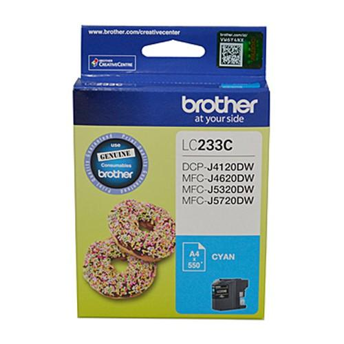 Brother LC-233 Cyan Ink Cartridge - up to 550 pages-Blueprint Toners