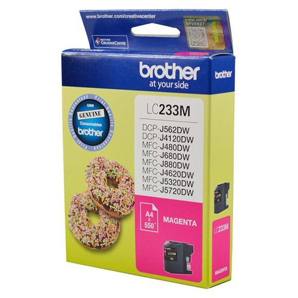 Brother LC-233 Magenta Ink Cartridge - up to 550 pages-Blueprint Toners