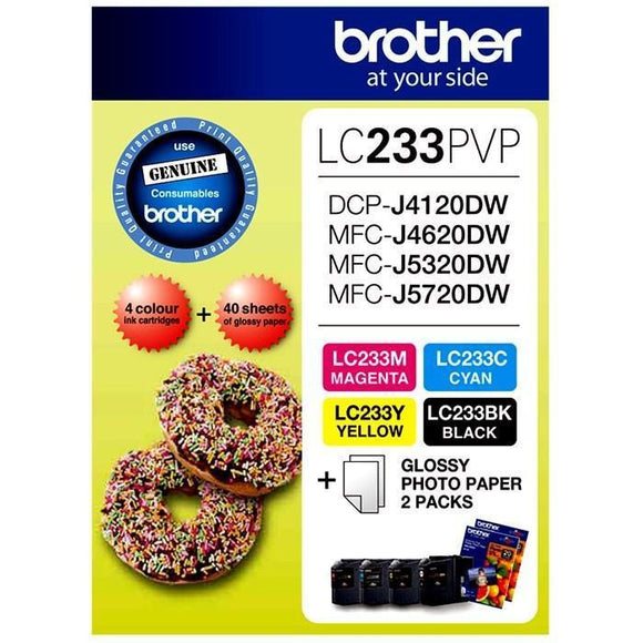 Brother LC-233 Photo Value Pack - refer to singles-Blueprint Toners
