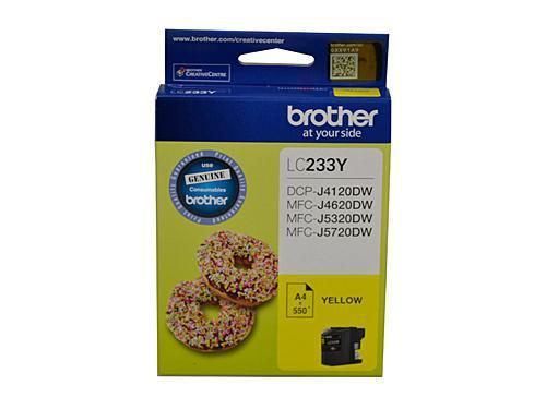 Brother LC-233 Yellow Ink Cartridge - up to 550 pages-Blueprint Toners