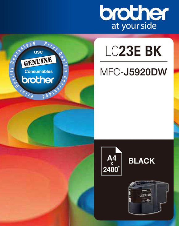Brother LC-23E Black Ink Cartridge - 2,400 pages-Blueprint Toners