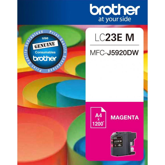 Brother LC-23E Magenta Ink Cartridge - 1,200 pages-Blueprint Toners