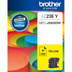 Brother LC-23E Yellow Ink Cartridge - 1,200 pages-Blueprint Toners