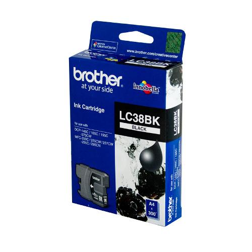 Brother LC-38BK Black Ink Cartridge - 300 pages-Blueprint Toners