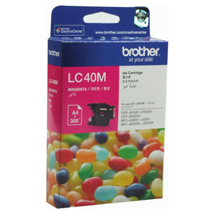 Brother LC-40M Magenta Ink Cartridge - 300 pages-Blueprint Toners