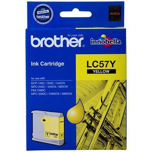 Brother LC-57Y Yellow Ink Cartridge - up to 400 pages-Blueprint Toners
