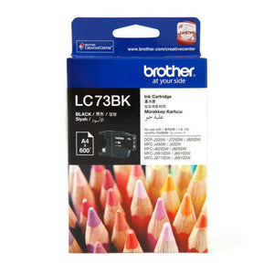 Brother LC-73BK Black Ink Cartridge - 600 pages-Blueprint Toners
