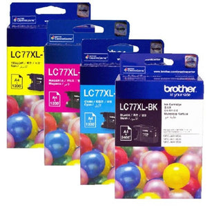Brother LC-77XL Cyan Ink Cartridge - 1,200 pages-Blueprint Toners