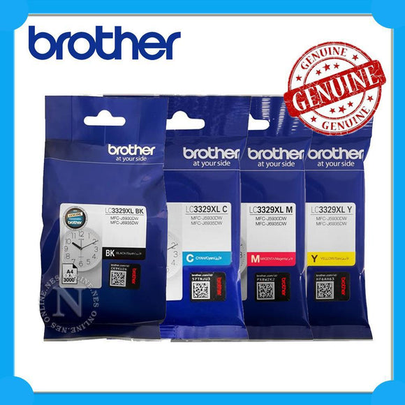 Brother LC3329 Cyan Ink Cartridge - 1,500 pages-Blueprint Toners