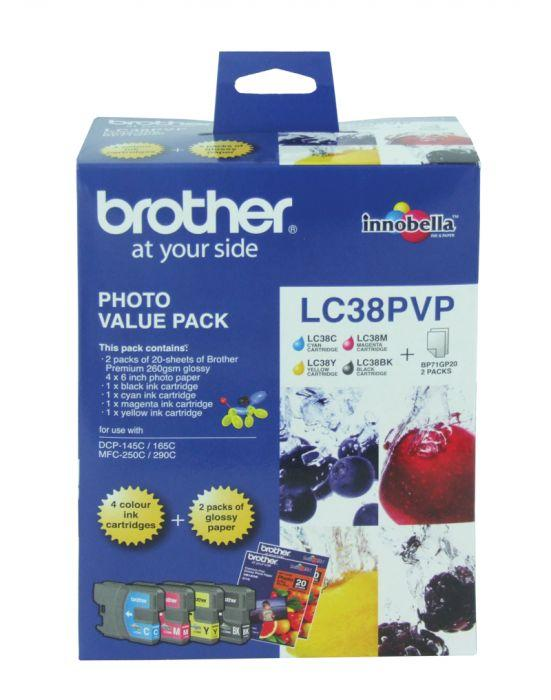 Brother LC38 Photo Value Pack - refer to singles-Blueprint Toners