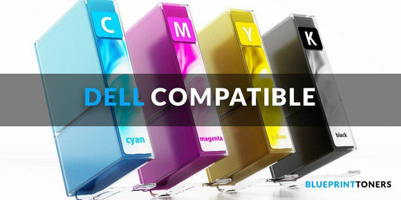 Compatible White-Box, Dell 1320 Yellow Toner Cartridge - 2,000 pages - 2,000 pages-Blueprint Toners