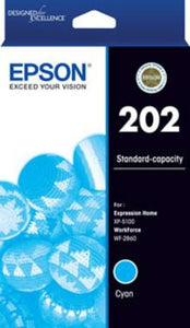 Epson 202 HY Cyan Ink Cartridge-Blueprint Toners