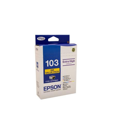 Epson T103 (103N) H/Y Ink Value Pack, contains BK,C,M & Y - Yields as above-Blueprint Toners