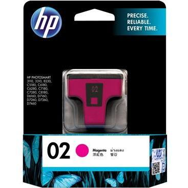 HP #02 Magenta Ink Cartridge - 3.5ml - 350 pages-Blueprint Toners
