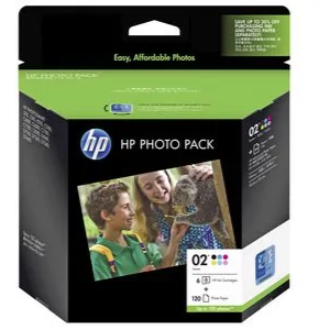 HP #02 Value Pack + 120 Sheets 6