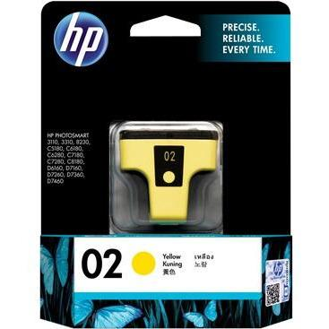 HP #02 Yellow Ink Cartridge - 6ml - 350 pages-Blueprint Toners