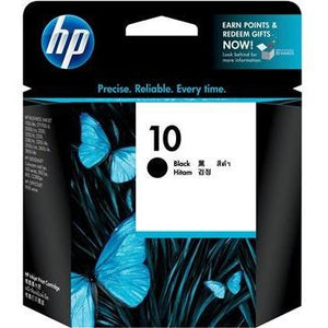 HP #10 Black Ink Cartridge - 74ml - 1,430 pages-Blueprint Toners