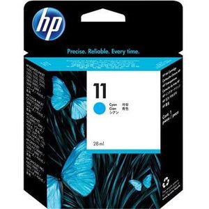 HP #11 Cyan Ink Cartridge (29ml) - 1,830 pages-Blueprint Toners