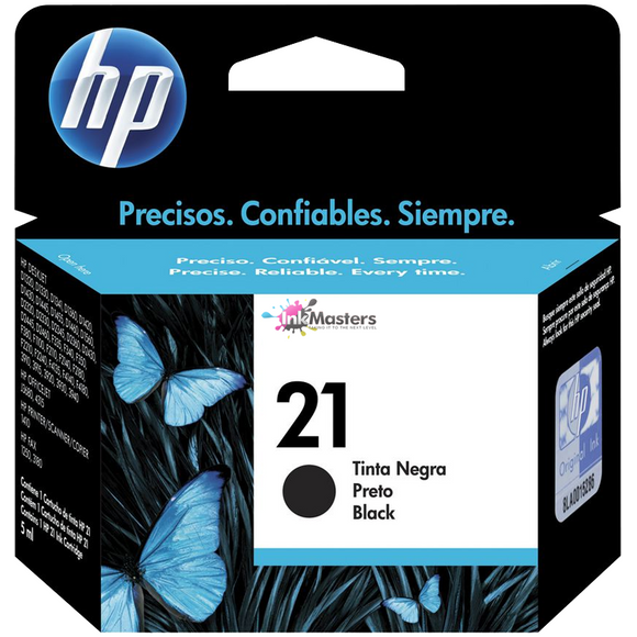HP #21 Black Ink Cartridge - 185 pages-Blueprint Toners