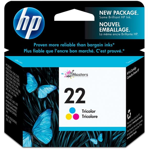 HP #22 Colour Ink Cartridge - 170 pages-Blueprint Toners
