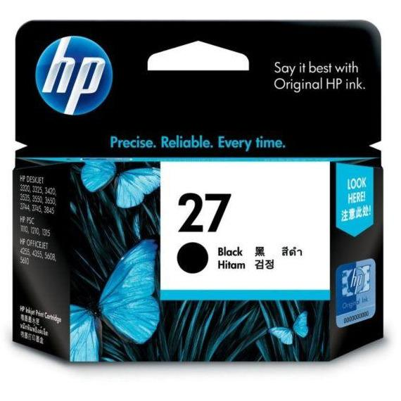 HP #27 Black Ink Cartridge - 220 pages-Blueprint Toners