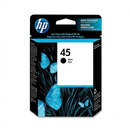 HP #45 Black Ink Cartridge - 42ml - 883 pages-Blueprint Toners