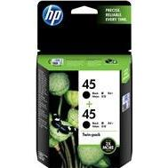 HP #45 Black Ink Cartridge Twin Pack - 883 pages each-Blueprint Toners
