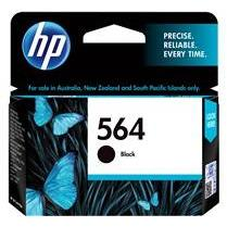 HP #564 Black Ink Cartridge - 250 pages-Blueprint Toners