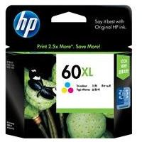 HP #60 Colour XL ink Cartridge - 440 pages-Blueprint Toners