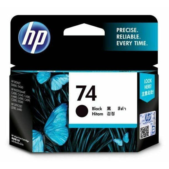 HP #74 Black Ink Cartridge - 220 pages-Blueprint Toners