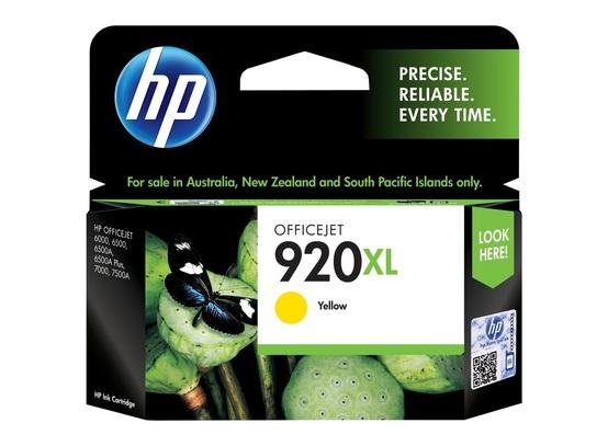 HP #920XL Yellow High Yield Ink Cartridge - 700 pages-Blueprint Toners