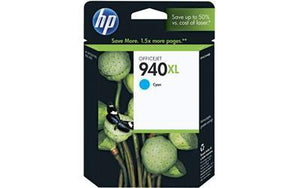 HP #940XL Cyan High Yield Ink Cartridge - 1,400 pages-Blueprint Toners