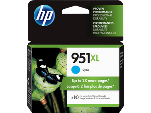 HP #951XL Cyan Ink Cartridge - 1,500 pages-Blueprint Toners