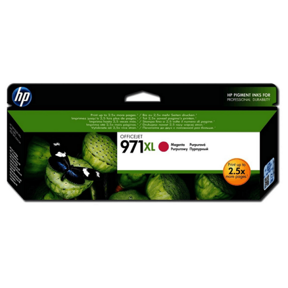 HP #971XL Magenta Ink Cartridge - 6,600 pages-Blueprint Toners