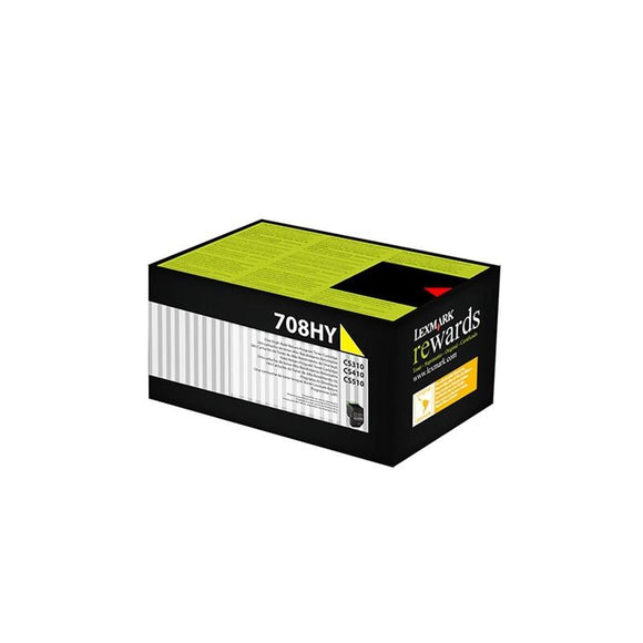 Lexmark 708HY HY Yellow Toner - 3,000 pages-Blueprint Toners