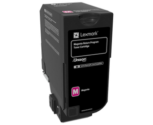 Lexmark 74C60M0 Magenta Toner Cartridge - 3,000 pages-Blueprint Toners