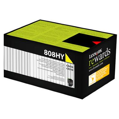 Lexmark 808HY HY Yellow Toner - 3,000 pages-Blueprint Toners