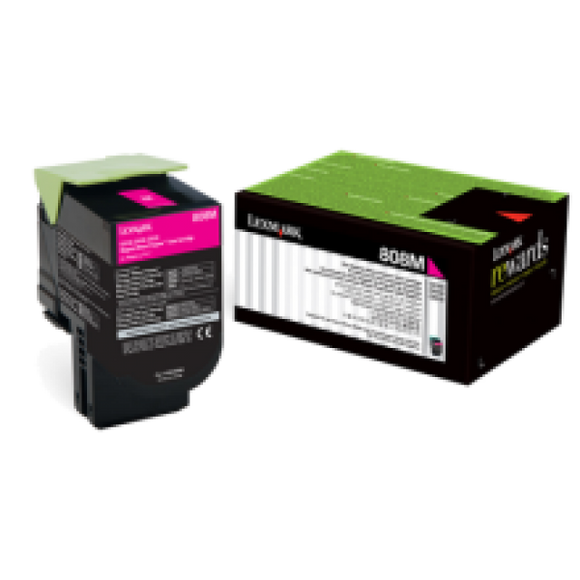 Lexmark 808M Magenta Toner - 1,000 pages-Blueprint Toners