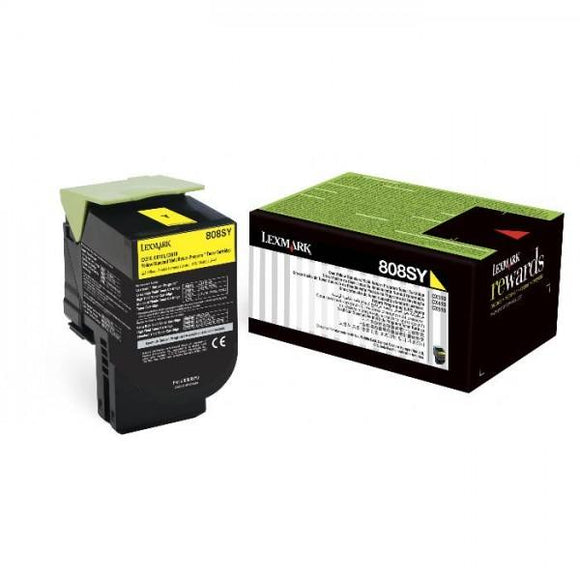 Lexmark 808SY Std Yellow Toner - 2,000 pages-Blueprint Toners
