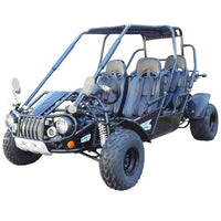 New 300cc - Trailmaster 300-XRS4 - 4 Seater Go Kart w/Reverse - CA Carb Approved - Free Shipping go kart Wholesale ATV black