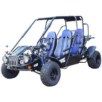 New 300cc - Trailmaster 300-XRS4 - 4 Seater Go Kart w/Reverse - CA Carb Approved - Free Shipping go kart Wholesale ATV blue
