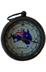 Australia Flag open face compass